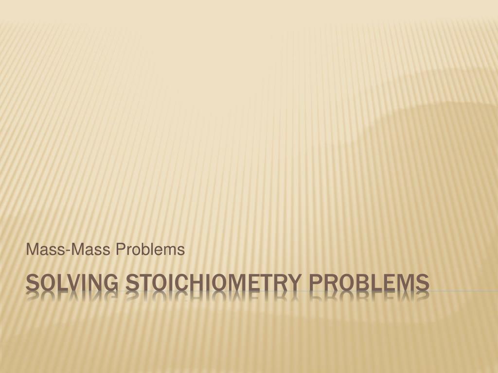 mass mass problems l.