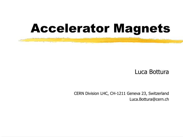 accelerator magnets n.