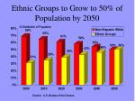 ethnic groups to grow to 50 of population by 2050