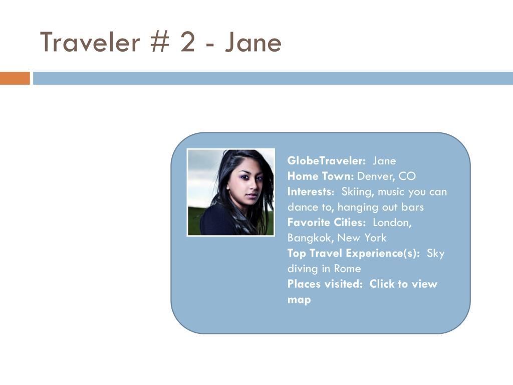 Traveler # 2 - Jane