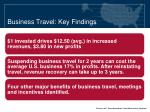 business travel key findings