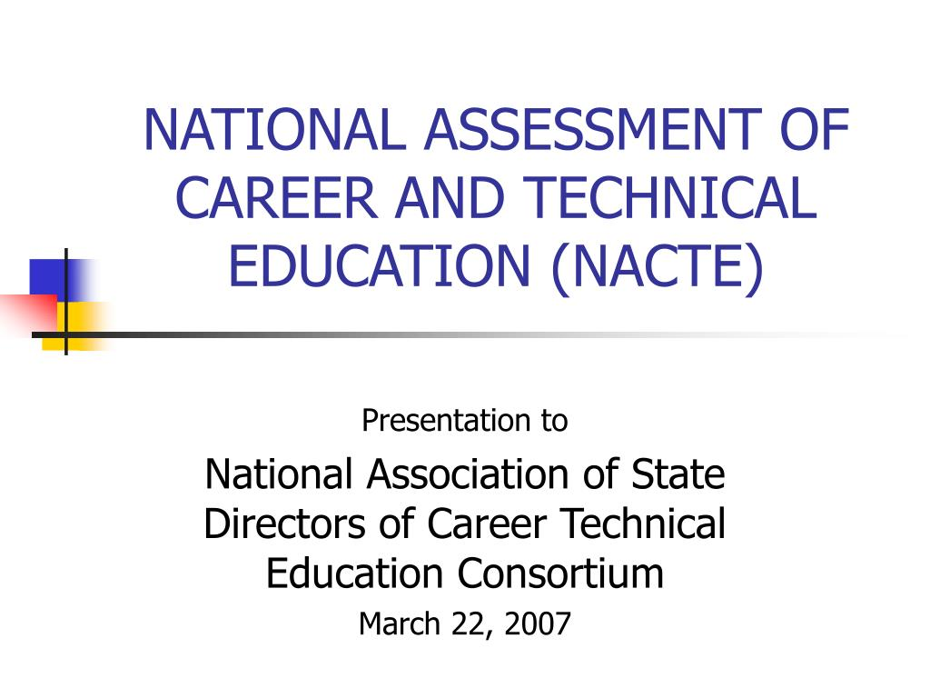 national assessment of career and technical education nacte l.