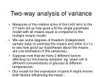 two way analysis of variance26