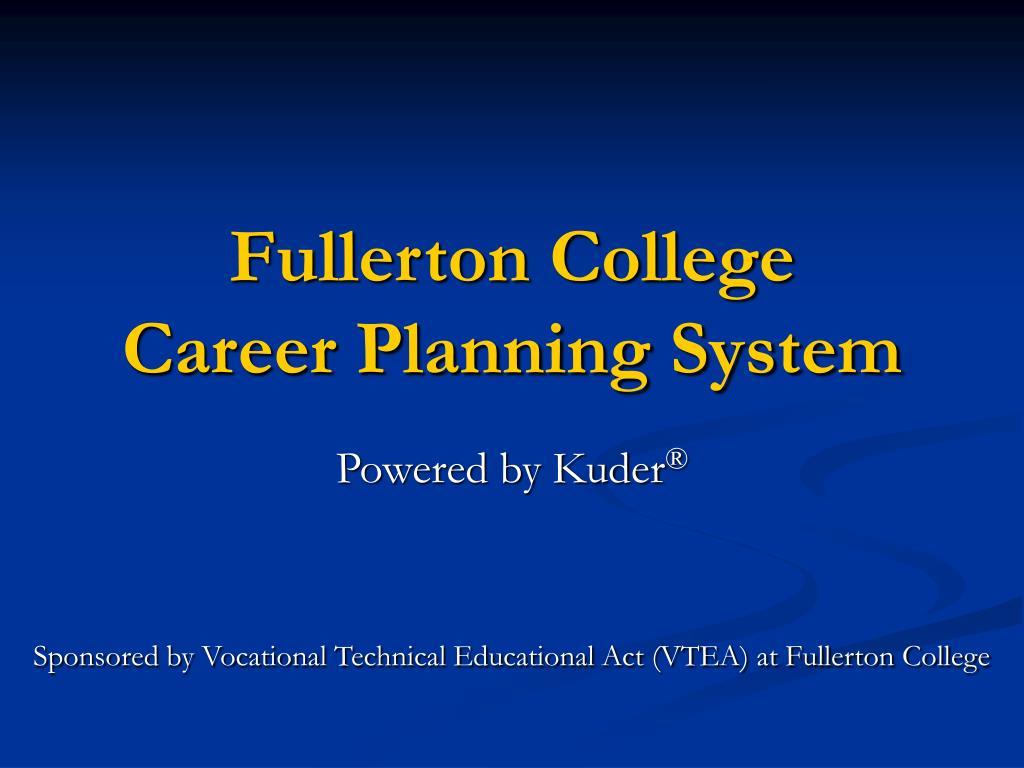 fullerton college career planning system l.