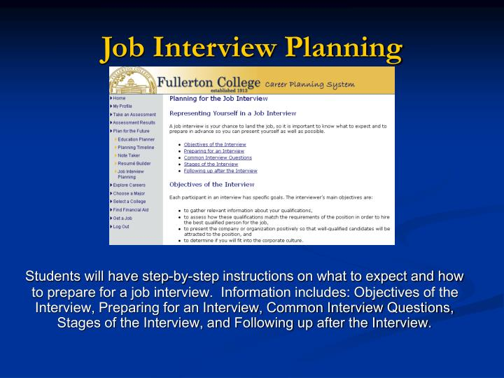 Ppt Fullerton College Career Planning System Powerpoint