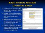 kuder interests and skills composite report