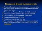 research based assessments