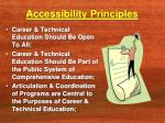 accessibility principles