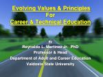 evolving values principles for career technical education