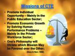 missions of cte