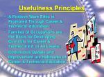 usefulness principles
