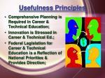 usefulness principles22