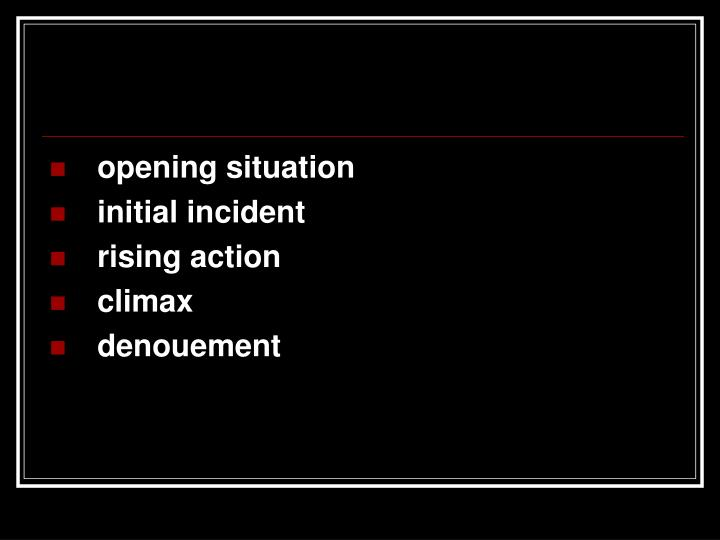 opening situation