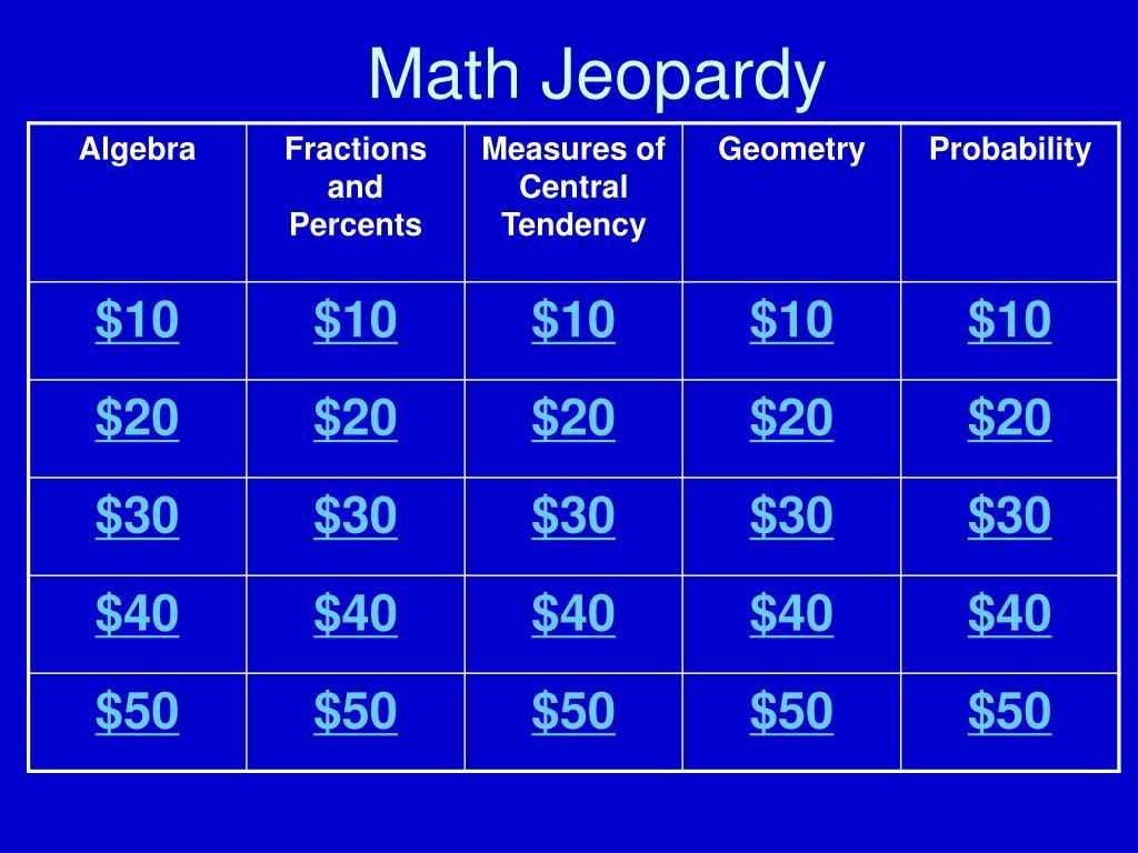 math jeopardy l.