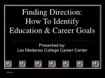 finding direction how to identify education career goals