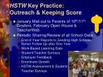 hstw key practice outreach keeping score
