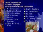 hstw key practice students engaged through school based enterprises