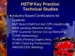 hstw key practice technical studies11