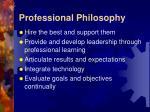 professional philosophy