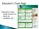 educator s tools page