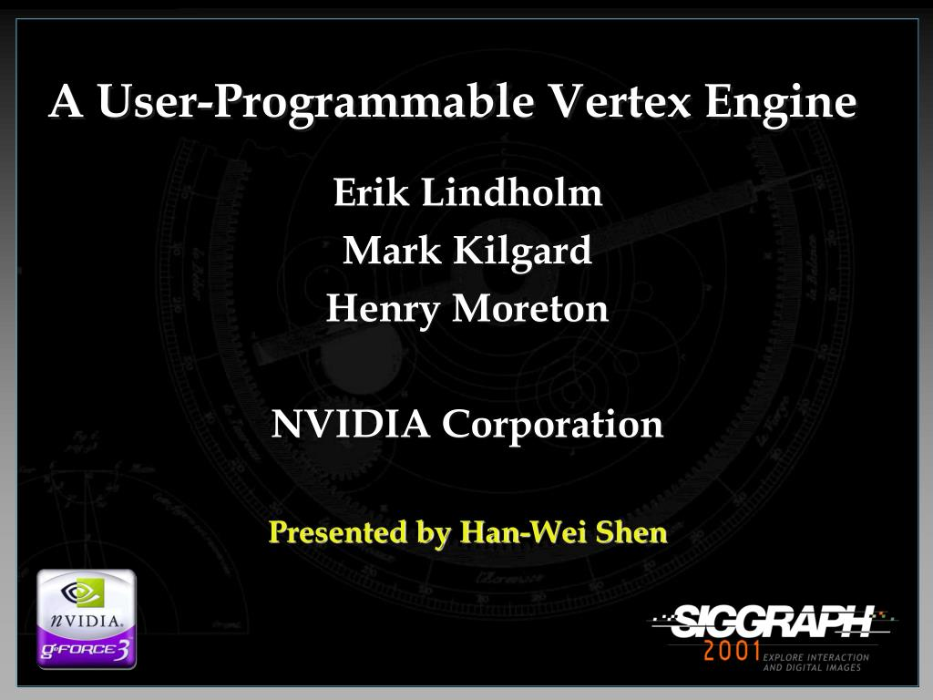 a user programmable vertex engine l.
