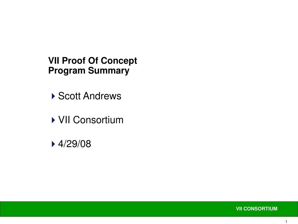 vii proof of concept program summary l.