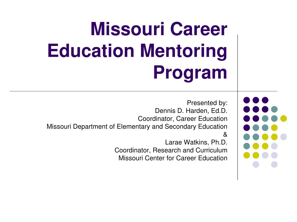 missouri career education mentoring program l.