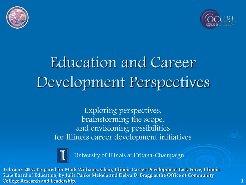 education and career development perspectives l.
