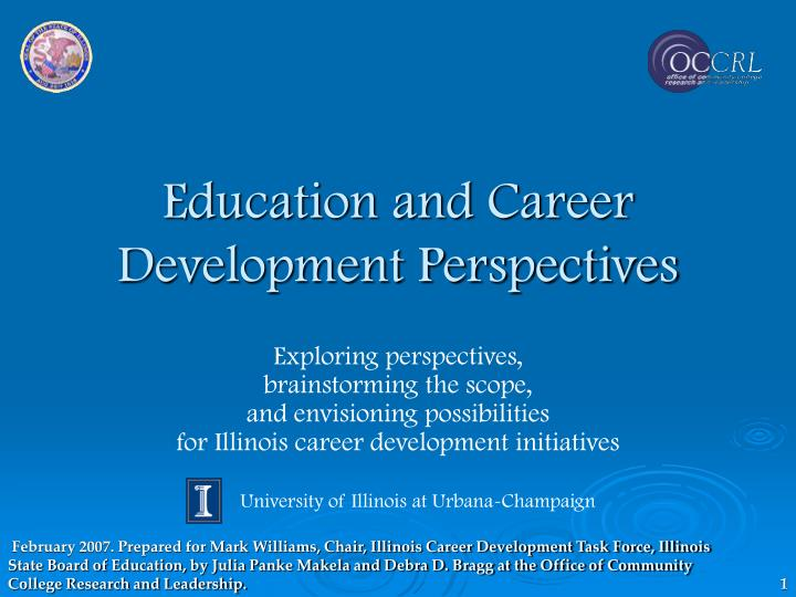 education and career development perspectives n.