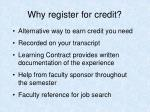 why register for credit