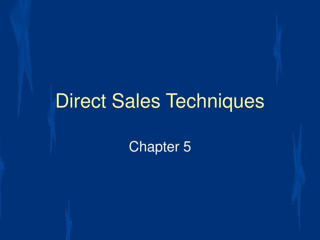 direct sales techniques l.