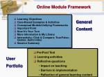 online module framework