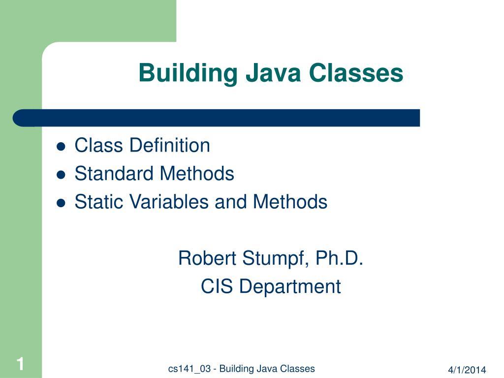 building java classes l.