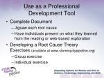 use as a professional development tool23
