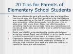 20 tips for parents of elementary school students