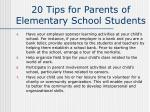 20 tips for parents of elementary school students30