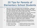 20 tips for parents of elementary school students31