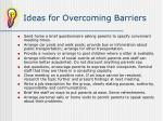 ideas for overcoming barriers