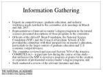 information gathering