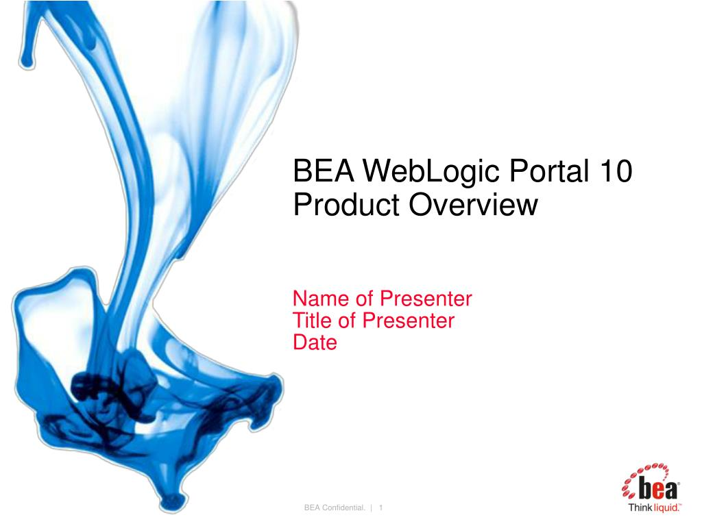 bea weblogic portal 10 product overview l.