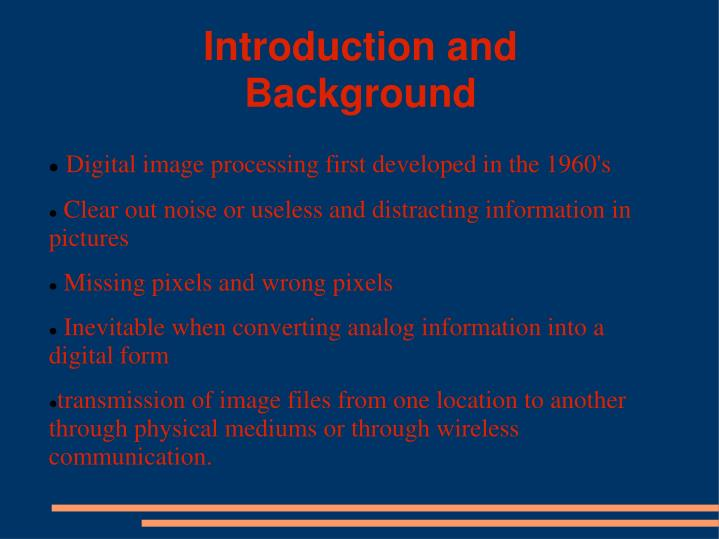 Introduction and