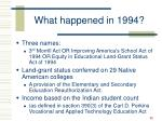 what happened in 1994
