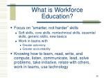 what is workforce education