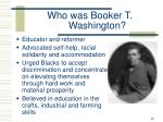 who was booker t washington