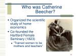 who was catherine beecher