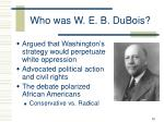 who was w e b dubois