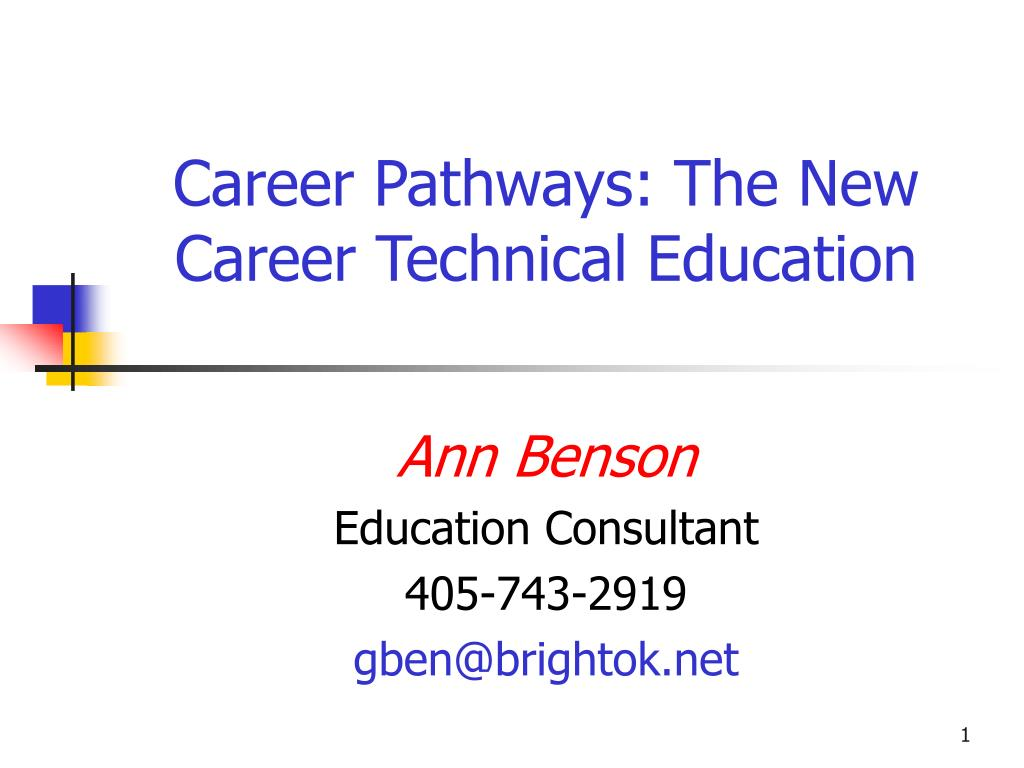 career pathways the new career technical education l.