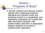 perkins programs of study16