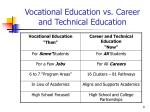 vocational education vs career and technical education