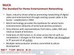 moca the standard for home entertainment networking